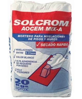 SOLCROM AOCEM MIX A NIVELADOR SACO 20 KL.