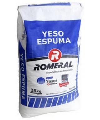 YESO ROMERAL ESPUMA 25 KILOS