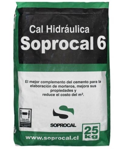 CAL HIDRAULICA SOPROCAL SACO 25 KILOS