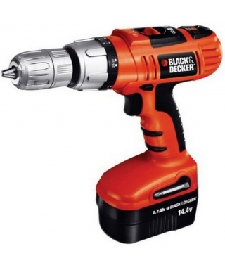 TALADRO PERCUTOR BLACK & DECKER INALAMBRICO HP144K 14.4V
