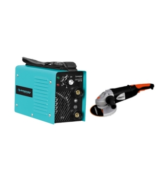 COMBO SOLDADORA ENERGY IGBT 160  + ESMERIL ANGULAR GLADIATOR  AA718 + DISCO